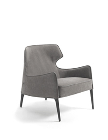 Frigerio Crosby Armchair in leather