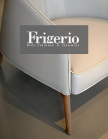 Frigerio Jackie Armchir in leather Miura 8315
