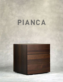 Pianca Arco 3 drawer in Burnt Oak