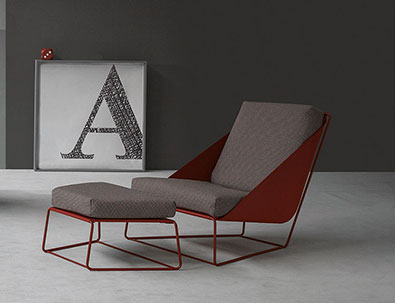 Bonaldo Alfie Armchair with Footrest