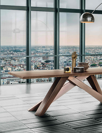 Bonaldo Big Table Copper Legs