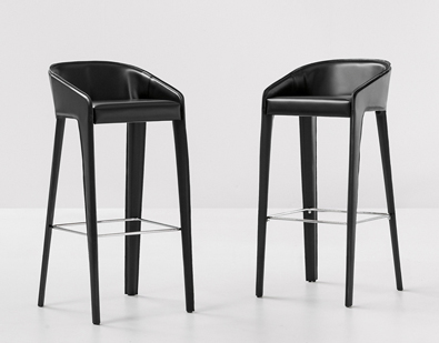 Bonalod Lamina Too Stools in hide leather