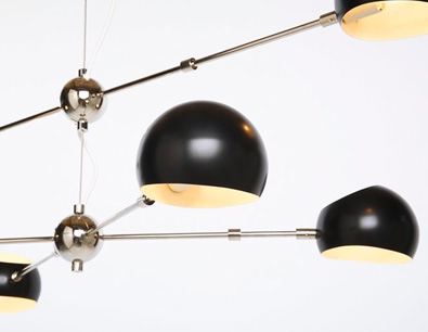 David Weeks oval Boi Chandelier detail