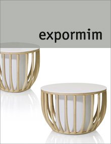 Expormim Frames Low Round Tables in White