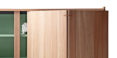 Lando Novella Cabinet detail in Larch