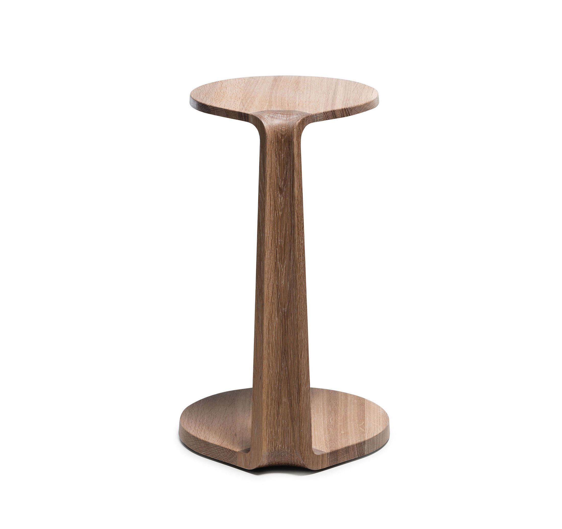 MS&Wood Primum Solid Wood Oval Side Table