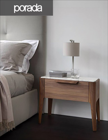 Porada Ziggy 2 Nightstand in Walnut and Calacatta Gold