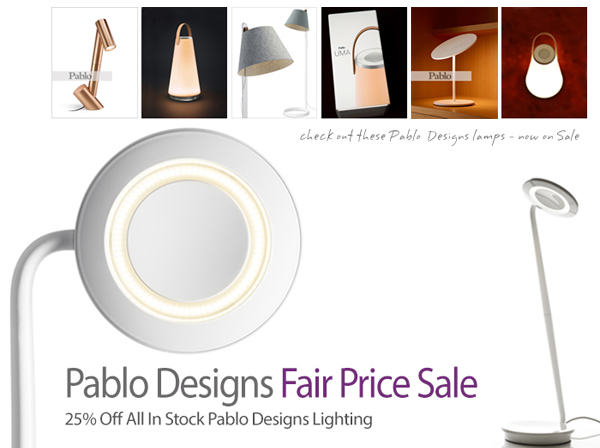 Pablo Designs Fair Price Sale, 25% Off All In Stock Pablo Designs Lighting