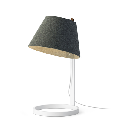 Lana Large Table lamp, White base with Charcoal lamp shade