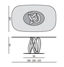 Porada Infinity Oval Table