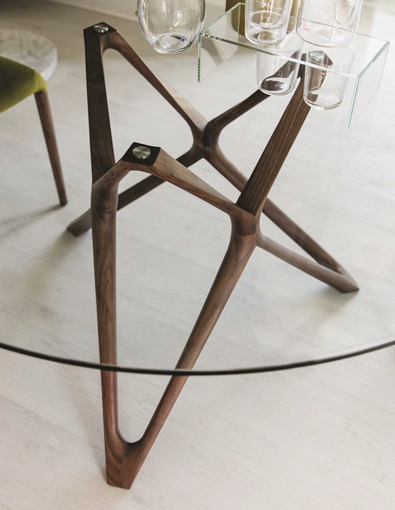 Porada Circe Solid Walnut table Base