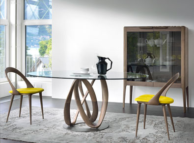 Porada Infinity Elliptical Table, modern furniture Vancouver