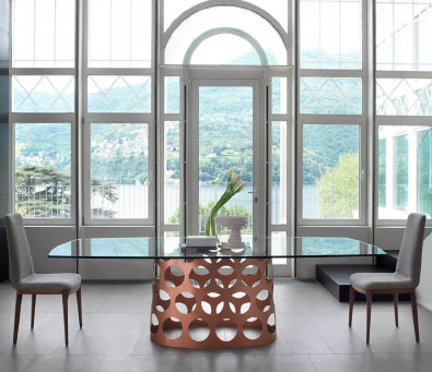 Porada Jean Table in Copper,modern furniture Vancouver