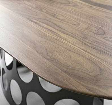 Porada Jean Table in Wood, modern furniture Vancouver