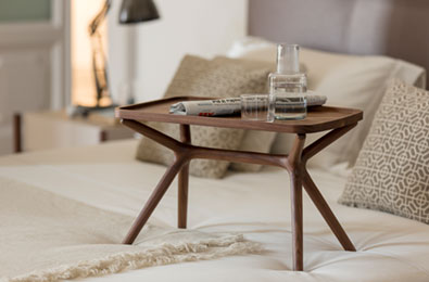Porada Lcs Side Table with tray
