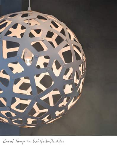 David Trubridge Coral Lamp White 