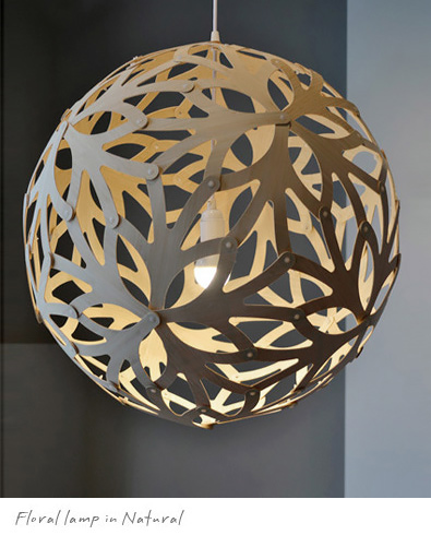 David Trubridge Floral Lamp in Natural