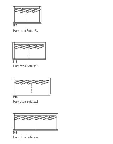 Hampton Sofa drawings